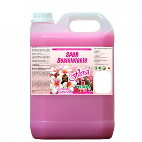 SPAN DESINFETANTE FLORAL 0005L - preço por litro:R$5,70
