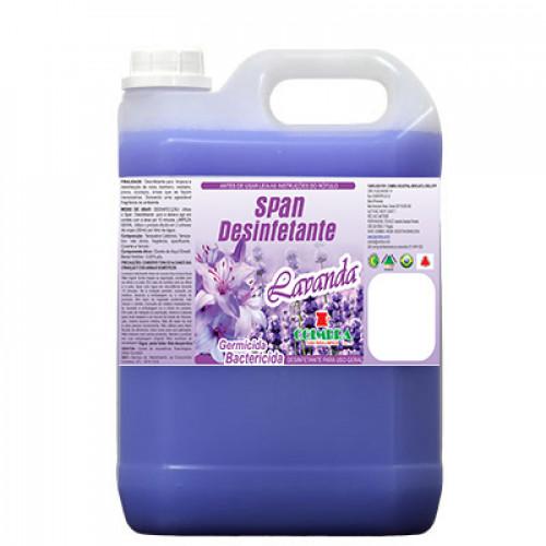 SPAN DESINFETANTE LAVANDA 0005L - preço por litro:R$4,01